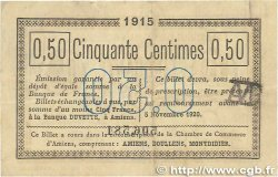 50 Centimes FRANCE régionalisme et divers AMIENS 1915 JP.007.26 pr.TTB