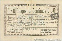 50 Centimes FRANCE régionalisme et divers AMIENS 1915 JP.007.32 TTB