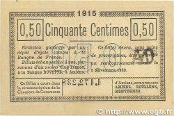 50 Centimes FRANCE régionalisme et divers AMIENS 1915 JP.007.32 TTB+