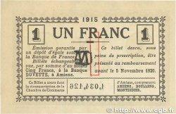 1 Franc FRANCE régionalisme et divers Amiens 1915 JP.007.36 SUP