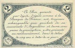 2 Francs FRANCE régionalisme et divers Angoulême 1915 JP.009.32 SPL+