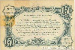 50 Centimes FRANCE régionalisme et divers ANGOULÊME 1917 JP.009.40 TTB+
