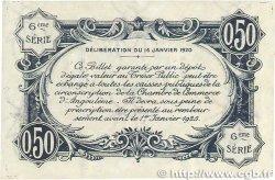 50 Centimes FRANCE régionalisme et divers Angoulême 1920 JP.009.46 SUP