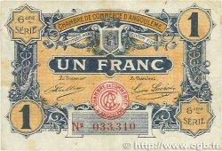 1 Franc FRANCE régionalisme et divers ANGOULÊME 1920 JP.009.47 pr.TTB