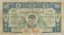1 Franc FRANCE régionalisme et divers AURILLAC 1917 JP.016.13 B