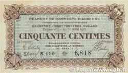 50 Centimes FRANCE régionalisme et divers Auxerre 1916 JP.017.11 SUP