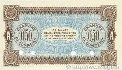 50 Centimes FRANCE régionalisme et divers AUXERRE 1920 JP.017.21 NEUF