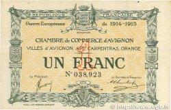 1 Franc FRANCE régionalisme et divers AVIGNON 1915 JP.018.05 TTB