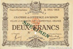 2 Francs FRANCE régionalisme et divers Avignon 1915 JP.018.12 SUP