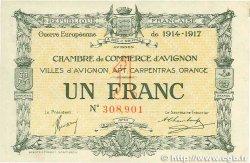 1 Franc FRANCE régionalisme et divers AVIGNON 1915 JP.018.17 pr.SPL