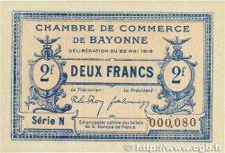 2 Francs FRANCE régionalisme et divers Bayonne 1916 JP.021.36 SPL+