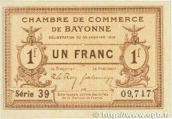 1 Franc FRANCE régionalisme et divers BAYONNE 1918 JP.021.59 pr.NEUF