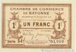 1 Franc FRANCE régionalisme et divers Bayonne 1918 JP.021.59 NEUF