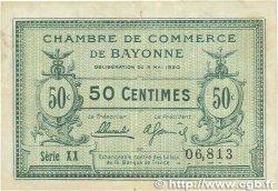 50 Centimes FRANCE régionalisme et divers BAYONNE 1920 JP.021.66 TTB