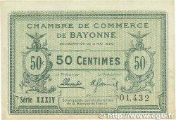 50 Centimes FRANCE régionalisme et divers Bayonne 1920 JP.021.66 SUP+