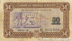50 Centimes FRANCE régionalisme et divers BELFORT 1921 JP.023.56 B+
