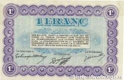 1 Franc FRANCE régionalisme et divers BELFORT 1921 JP.023.60var. TTB+