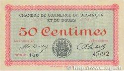 50 Centimes FRANCE régionalisme et divers BESANçON 1915 JP.025.01 TTB
