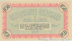 50 Centimes FRANCE régionalisme et divers Besançon 1915 JP.025.01 pr.NEUF