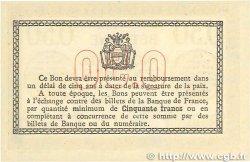 50 Centimes FRANCE régionalisme et divers BÉTHUNE 1915 JP.026.03 SUP+
