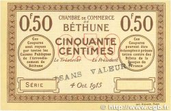 50 Centimes FRANCE regionalism and various Béthune 1915 JP.026.03 AU