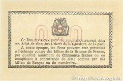 50 Centimes FRANCE régionalisme et divers BÉTHUNE 1915 JP.026.03 SPL