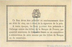 1 Franc FRANCE régionalisme et divers Béthune 1915 JP.026.07 TTB+