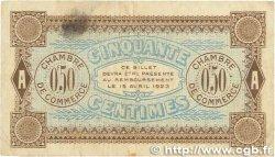 50 Centimes FRANCE régionalisme et divers AUXERRE 1920 JP.017.24 TB