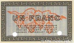 1 Franc FRANCE régionalisme et divers BÉZIERS 1914 JP.027.02 SPL