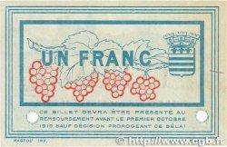 1 Franc FRANCE régionalisme et divers Béziers 1915 JP.027.16 SUP+