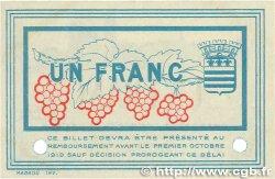 1 Franc FRANCE régionalisme et divers BÉZIERS 1915 JP.027.16 SPL