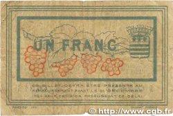 1 Franc FRANCE régionalisme et divers BÉZIERS 1921 JP.027.33 B