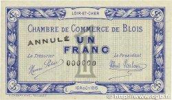 1 Franc FRANCE régionalisme et divers BLOIS 1915 JP.028.04 SUP+
