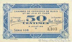 50 Centimes FRANCE régionalisme et divers BLOIS 1918 JP.028.09 TTB