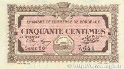 50 Centimes FRANCE régionalisme et divers BORDEAUX 1917 JP.030.11 pr.NEUF