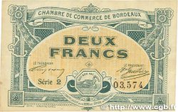 2 Francs FRANCE régionalisme et divers BORDEAUX 1917 JP.030.23 TTB