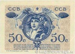 50 Centimes FRANCE régionalisme et divers Bordeaux 1921 JP.030.28 SPL