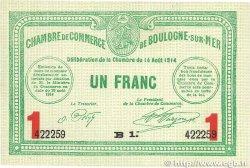 1 Franc FRANCE régionalisme et divers BOULOGNE-SUR-MER 1914 JP.031.15