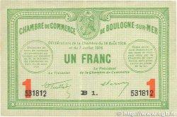 1 Franc FRANCE régionalisme et divers Boulogne-Sur-Mer 1914 JP.031.19 TTB