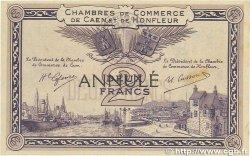 2 Francs FRANCE regionalism and miscellaneous Caen et Honfleur 1915 JP.034.11 VF