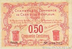 50 Centimes FRANCE regionalism and miscellaneous Caen et Honfleur 1918 JP.034.12 VF