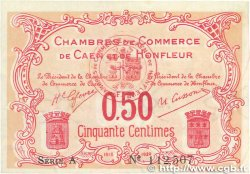 50 Centimes FRANCE regionalism and various Caen et Honfleur 1918 JP.034.12 VF