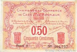 50 Centimes FRANCE régionalisme et divers CAEN et HONFLEUR 1918 JP.034.12 SUP
