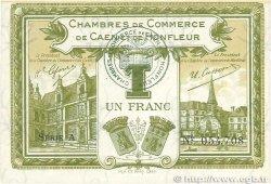 1 Franc FRANCE régionalisme et divers CAEN et HONFLEUR 1918 JP.034.14 TTB+