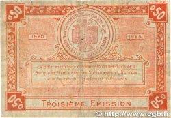 50 Centimes FRANCE régionalisme et divers CAEN et HONFLEUR 1920 JP.034.16 B+