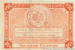 50 Centimes FRANCE régionalisme et divers CAEN et HONFLEUR 1920 JP.034.16 TTB