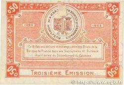 50 Centimes FRANCE régionalisme et divers Caen et Honfleur 1920 JP.034.16 SPL