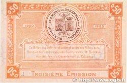 50 Centimes FRANCE régionalisme et divers CAEN et HONFLEUR 1920 JP.034.16 SPL+