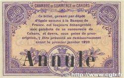 50 Centimes FRANCE régionalisme et divers CAHORS 1915 JP.035.13var. SPL