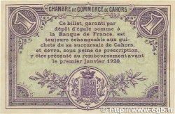 1 Franc FRANCE régionalisme et divers CAHORS 1915 JP.035.14 TTB